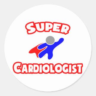 Super Cardiologist Round Stickers