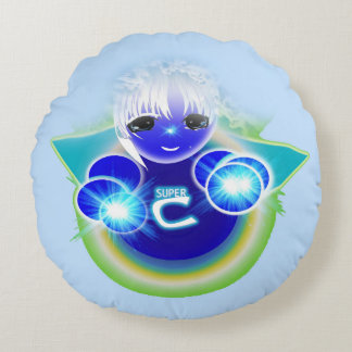 Super Celu, the healing and wellness doll for kids Round Cushion