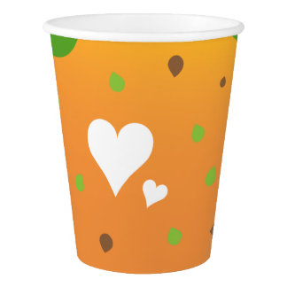 Super cool and stylish Love food paper cup design