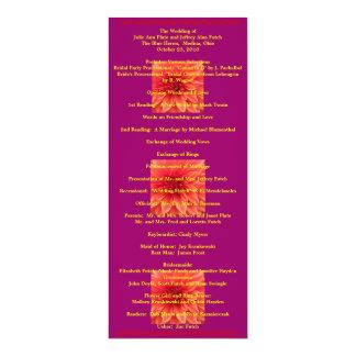 Super Cool Wedding program 10 Cm X 24 Cm Invitation Card