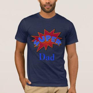 Super Dad Superhero Comic Action Words T-Shirt