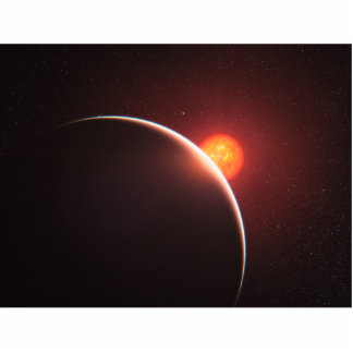 Super-Earth Exoplanet Space Art Standing Photo Sculpture