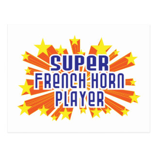 Super French Horn Player Postcard