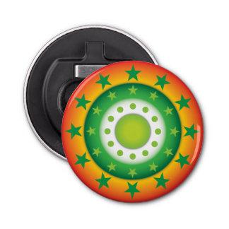 Super green circular star patterns bottle opener