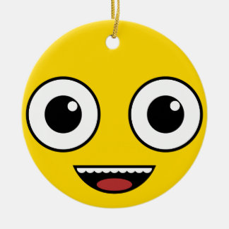 Super Happy Face Christmas Ornament