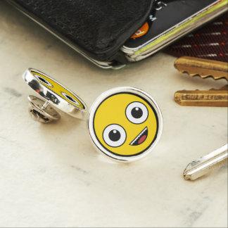 Super Happy Face Lapel Pin