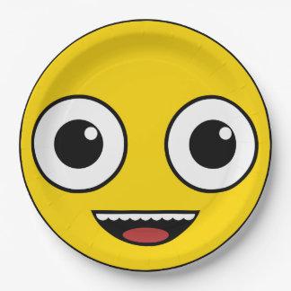 Super Happy Face Paper Plate
