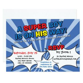 Super Hero Boy Baby Shower Invitation