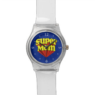 Super Mom Red/Yellow/Blue Superhero Mother's Day Watch