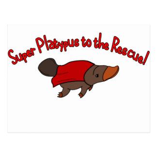 Super Platypus Postcard