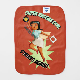 Super Reggae Girl Burp Cloth