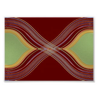 Super Shine Traffic Flow - Green Maroon Contrast Poster