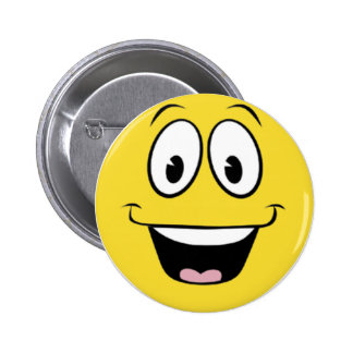 Super Smiley Face 6 Cm Round Badge