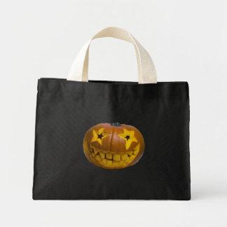 Super Star Pumpkin Halloween Trick or treat tote Bags