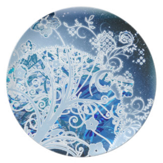Super Swirly Floral Plate