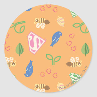 Supergirl Birds & the Bees Orange Round Sticker