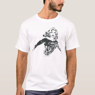 Supergirl Black and White Drawing 1 T-Shirt