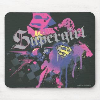 Supergirl Checkered Splatter Mouse Pad