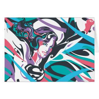 Supergirl Color Splash Swirls 2 Card