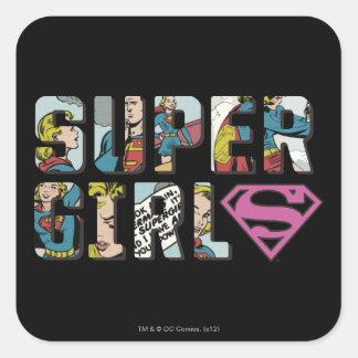 Supergirl Comic Logo Square Sticker
