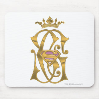 Supergirl Gold Crown Mouse Pad