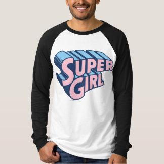 Supergirl Pink and Blue Logo T-Shirt