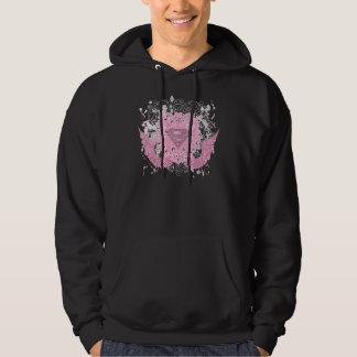 Supergirl Pink Winged Design Hoodie