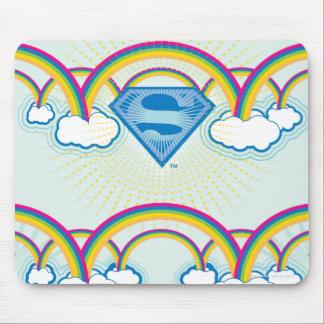 Supergirl Rainbow Pattern Mouse Pad