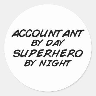 Superhero by Night - Accountant Classic Round Sticker
