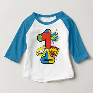 Superhero Comic Book Custom Baby T-Shirt