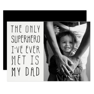 Superhero Dad Father's Day Photo Card