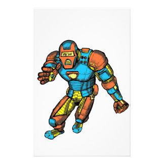 SUPERHERO IN ROBOT ARMOR STATIONERY