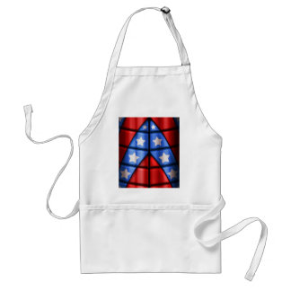 Superheroes - Blue Red White Stars Aprons