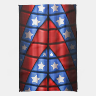 Superheroes - Blue Red White Stars Hand Towel