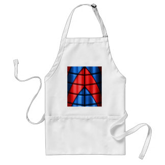 Superheroes - Red and Blue Apron