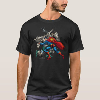 Superman Fights Enemy T-Shirt