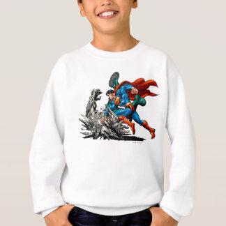 Superman Fights Monster Sweatshirt