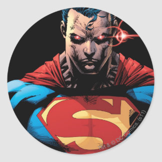 Superman - Laser Vision Round Sticker