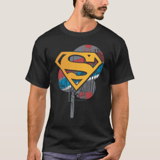 Superman S-Shield | Orange with Paint T-Shirt