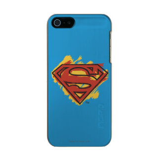 Superman S-Shield | Painted Blue Background Logo Incipio Feather® Shine iPhone 5 Case