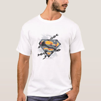 Superman Stylized | Chains Logo T-Shirt