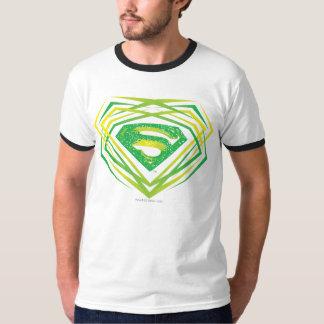 Superman Stylized | Green Decorative Logo T-Shirt