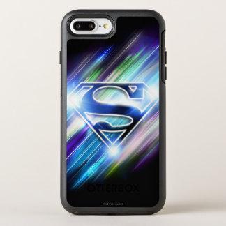 Superman Stylized | Shiny Blue Burst Logo OtterBox Symmetry iPhone 8 Plus/7 Plus Case