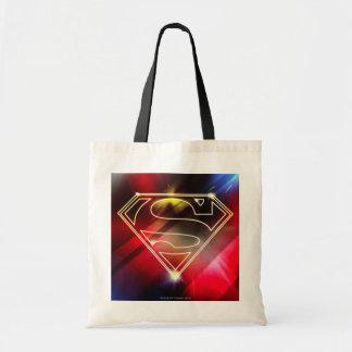 Superman Stylized | Shiny Yellow Outline Logo Tote Bag
