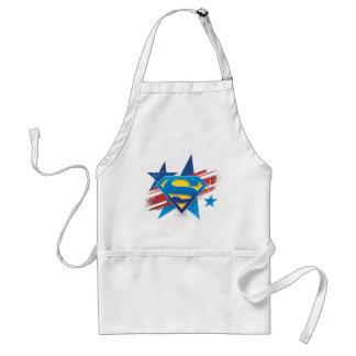 Superman Stylized   Stars and Stripes Logo Standard Apron