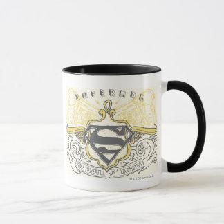 Superman Stylized | Yellow Drawn Trains Logo Mug