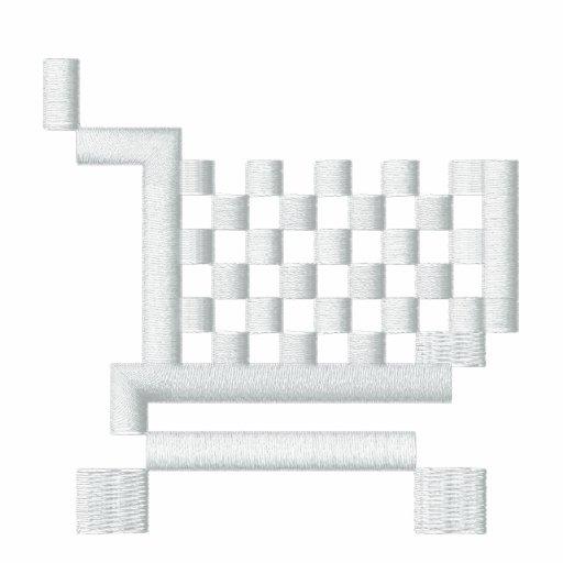 Supermarket Trolley Pixel Art Logo Hoodie (Dark)