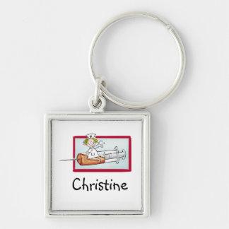 Supernurse - Personalize Keychain with Nurses name