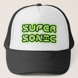Supersonic techno raver trucker hat