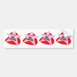superstar bridesmaid funny bumper sticker car bumper sticker